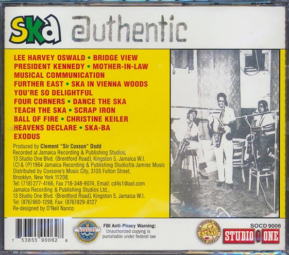 The Skatalites - Ska Authentic Volume 1