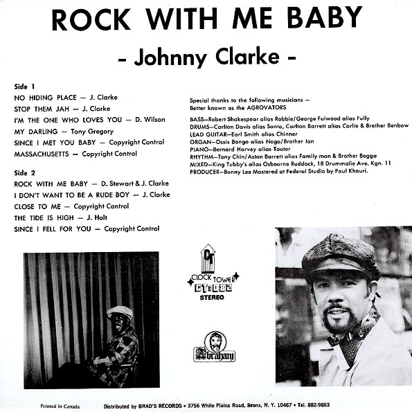 Johnny Clarke - Rock With Me Baby