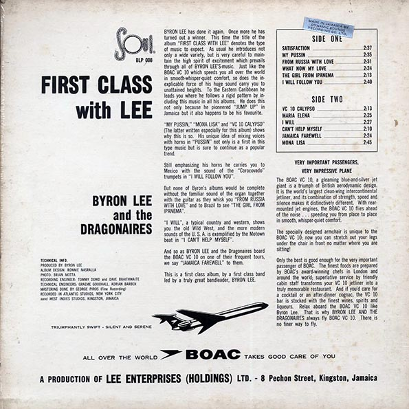 Byron Lee & The Dragonaires - First Class With Lee
