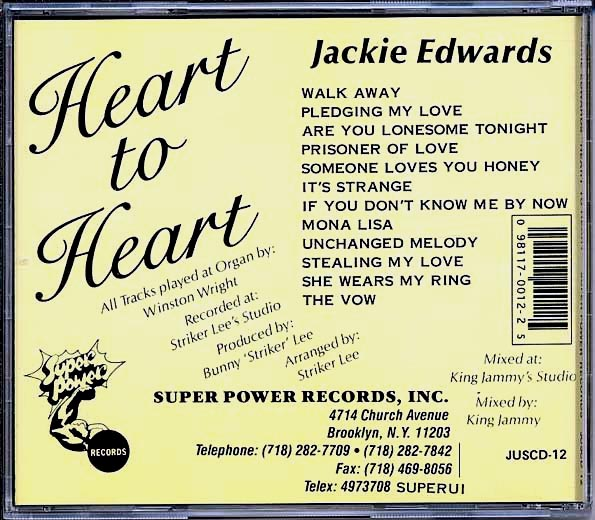Jackie Edwards - Heart To Heart