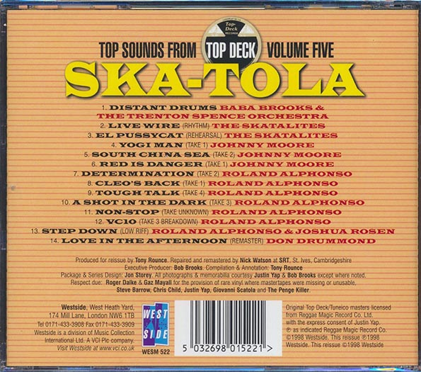 The Skatalites - Ska-Tola: Top Sounds From Top Deck #5