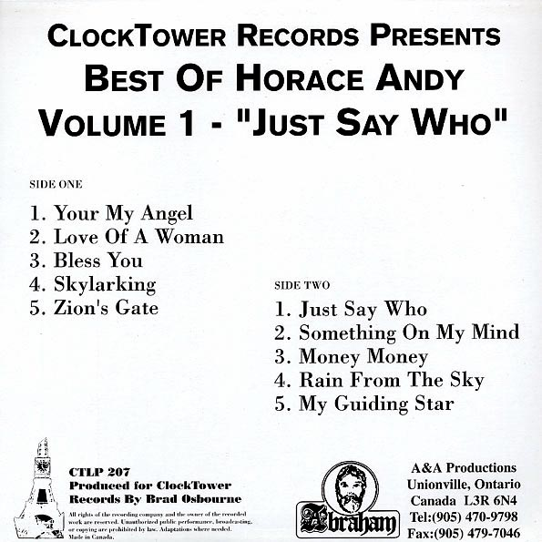 Horace Andy - Best Of Volume 1: Just Say Who