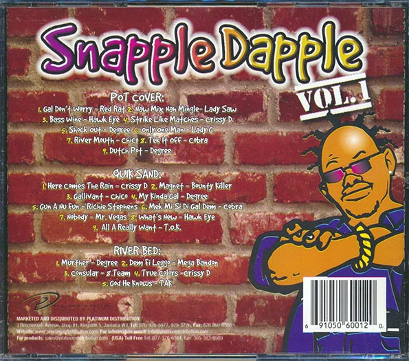 Snapple Dapple Volume 1 (Pot Cover, Quick Sand, River Bed Rhythms)