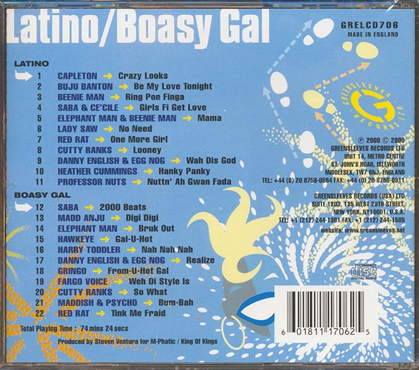 Greensleeves Rhythm Album: Latino & Boasy Gal