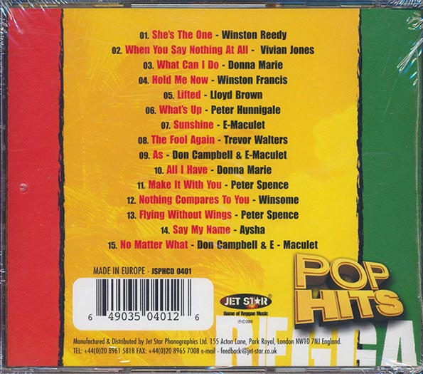 Pop Hits Inna Reggae Volume 1