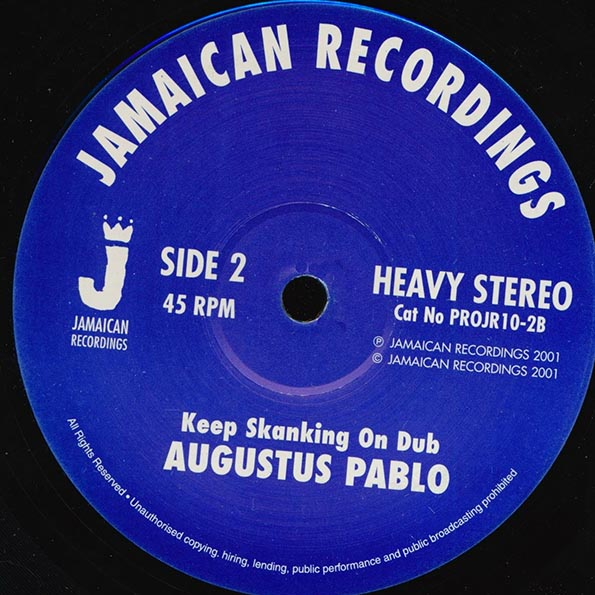 Augustus Pablo - Way Out Rockers  /  Keep Skanking On Dub