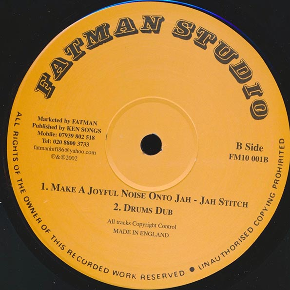Madoo - Rocking Of The 5000;  Toyan - Come Along  /  Jah Stitch - Make A Joyful Noise To Jah;  Drum Dub