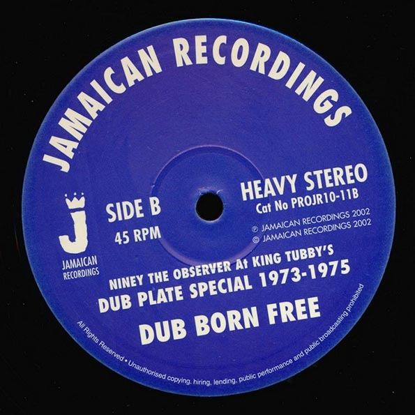 Niney The Observer - Set Dub Free  /  Niney The Observer - Dub Born Free