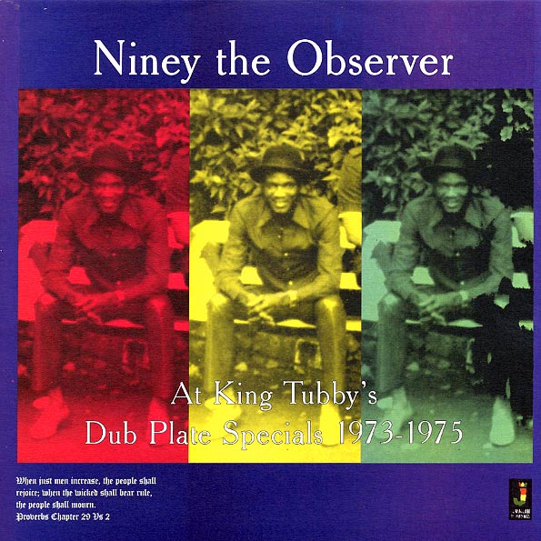 Niney The Observer - Niney The Observer At King Tubby's: Dub Plate Specials