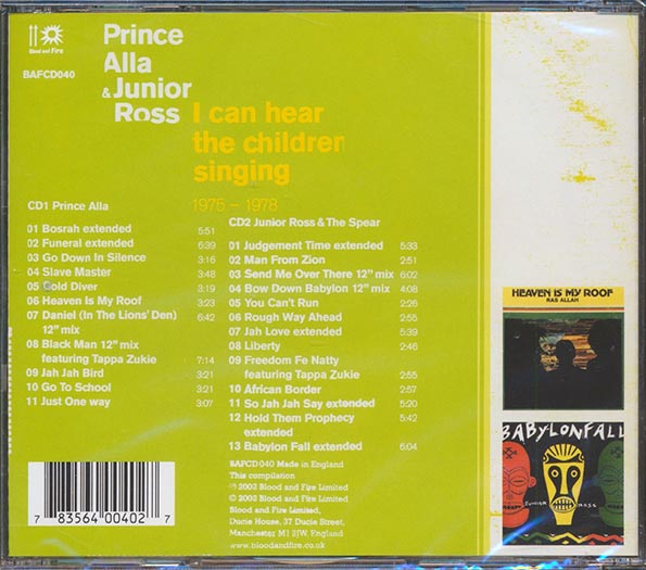 Prince Alla, Jr. Ross & The Spears - I Can Hear The Children Singing: 1976-1978