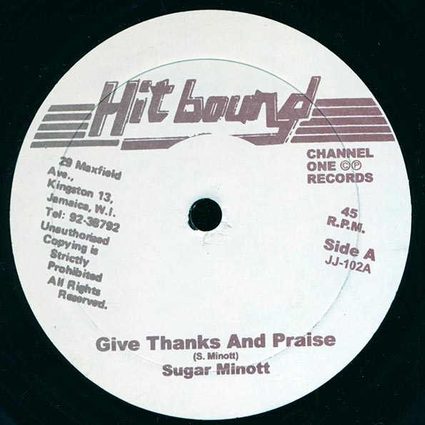 Sugar Minott - Give Thanks & Praise;  Version  /  Papa Bruce - Education System;  Version