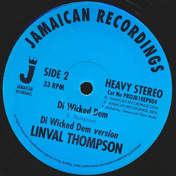 Linval Thompson - Trouble;  Version  /  Linval Thompson - Di Wicked Dem;  Version