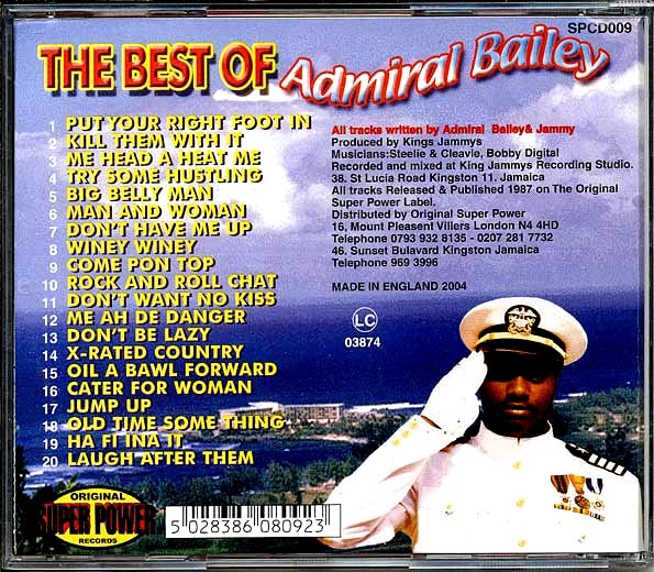 Admiral Bailey - Best Of