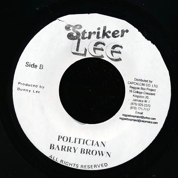 Don Carlos - Money And Woman  /  Barry Brown - Politician