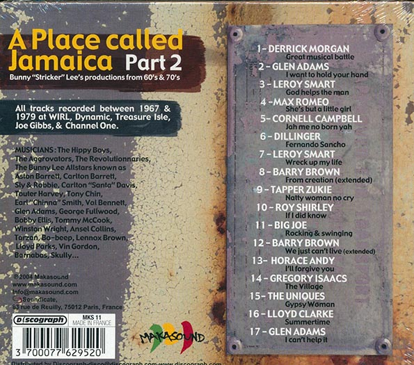 A Place Called Jamaica Part 2: Bunny Lee Productions From 60's & 70's