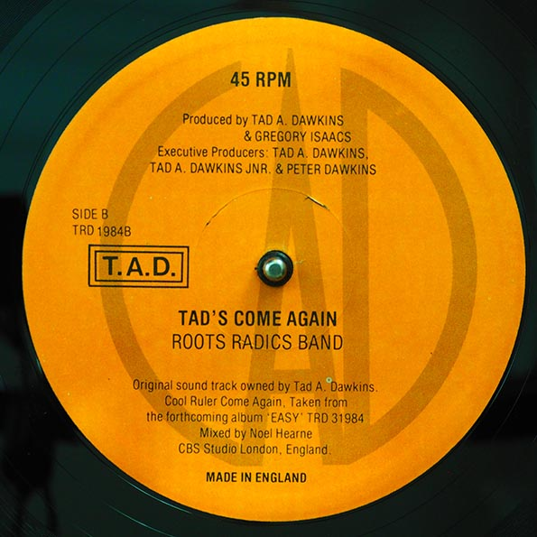 Gregory Isaacs - Cool Ruler Come Again (Extended Mix)  /  Roots Radics - Tad's Come Again