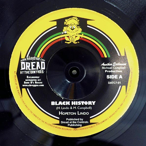 Hopeton Lindo - Black History  /  Mikey Dread, Prince Jammy - Recollection Rock (Version)