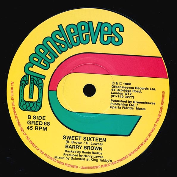 Barry Brown - Give Another Israel A Try (Extended Mix)  /  Barry Brown - Sweet Sixteen (Extended Mix)