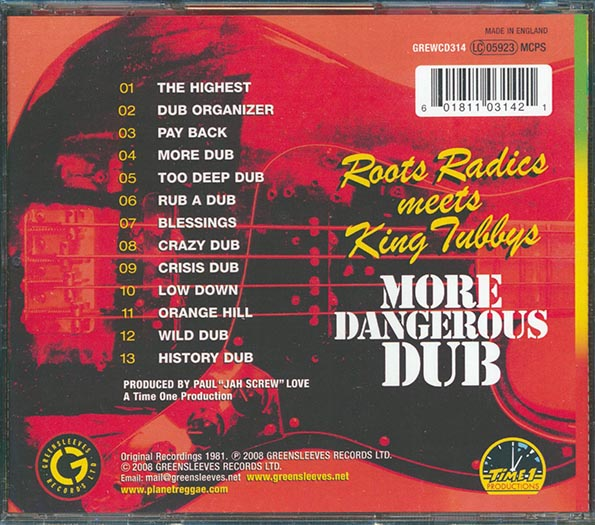Roots Radics, King Tubby - More Dangerous Dub: Roots Radics Meet King Tubby