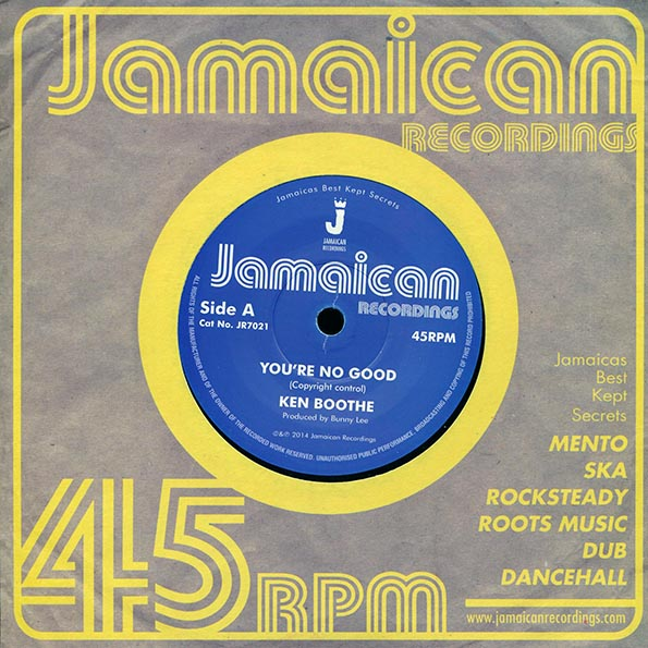 Ken Boothe - You're No Good  /  Ken Boothe - Out Of Order Dub