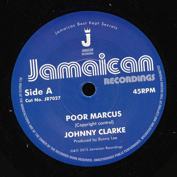 Johnny Clarke - Poor Marcus  /  King Tubby - Version
