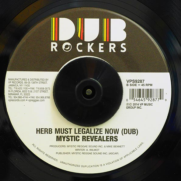 Mystic Revealers, Chronixx - Herb Must Legalize Now  /  Version