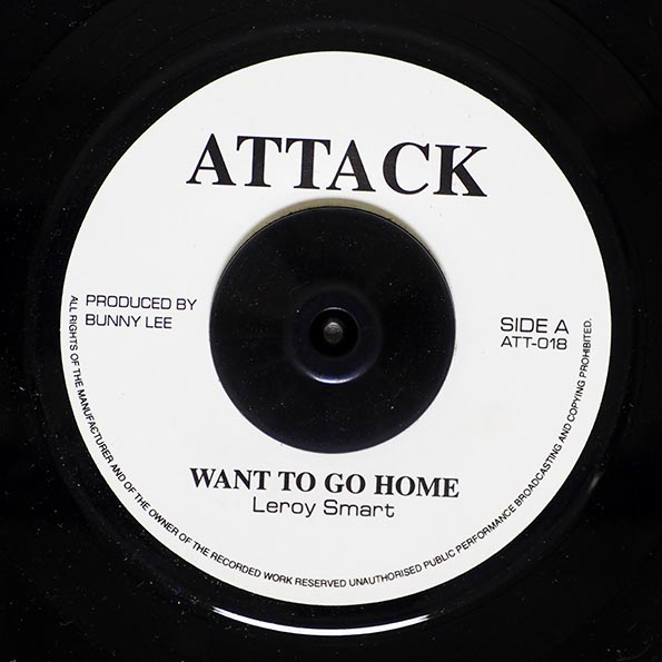 Leroy Smart - Want To Go Home  /  King Tubby - Want To Go Home Dub