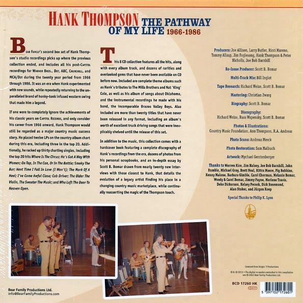 Hank Thompson - The Pathway Of My Life 1966-1986