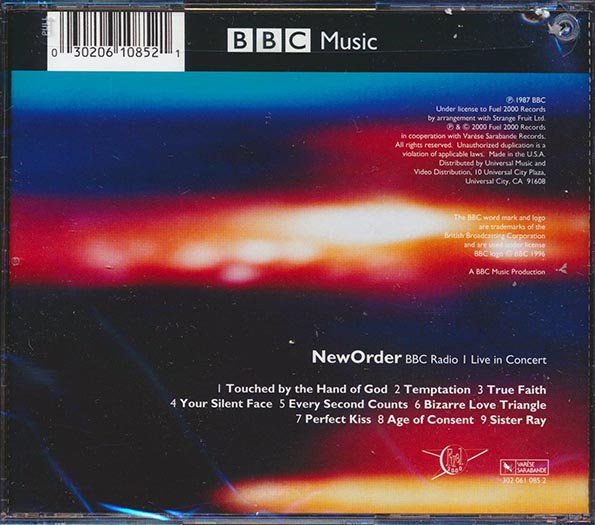 New Order - BBC Radio Live In Concert