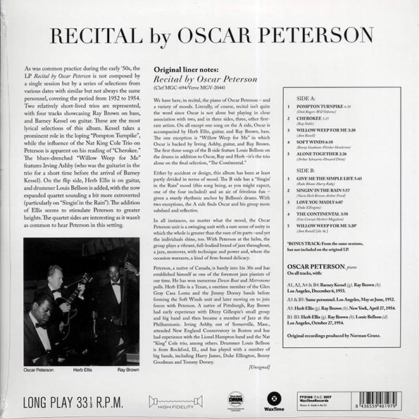 Oscar Peterson - Recital By Oscar Peterson