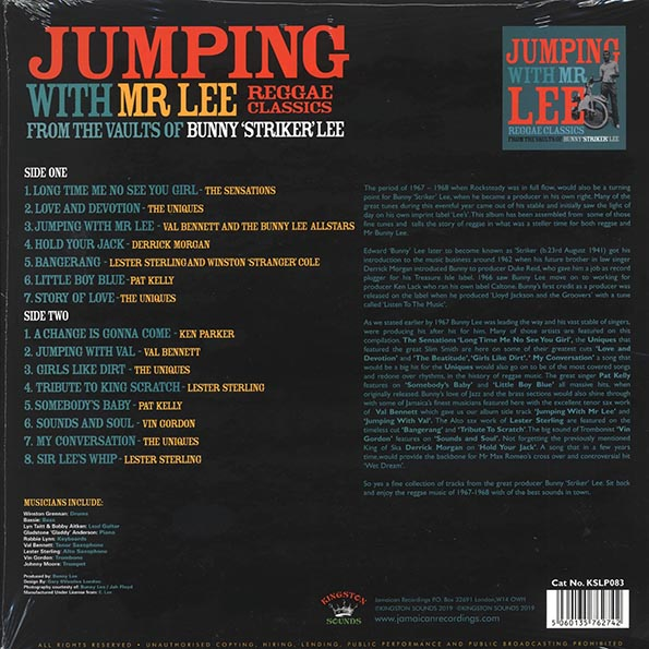 Jumping With Mr. Lee: Reggae Classics From The Vaults Of Bunny Striker Lee