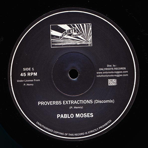 Pablo Moses - Proverbs Extractions (Extended Mix)  /  Pablo Moses - Music Is My Desire (Extended Mix)
