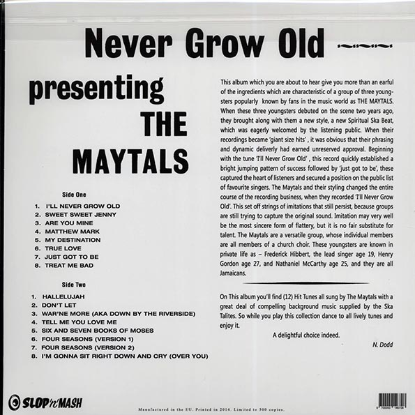Toots & The Maytals - Never Grow Old: Presenting The Maytals