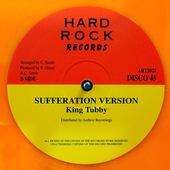Jr. Reid - Sufferation  /  King Tubby - Sufferation Version
