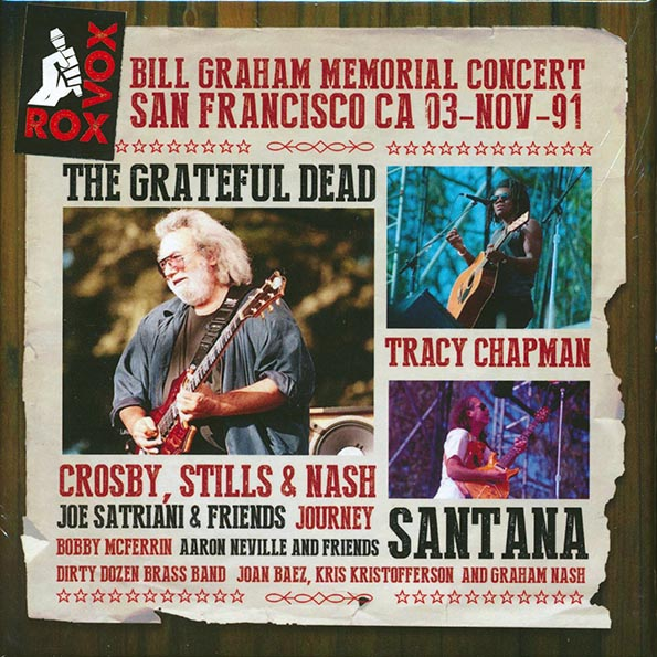 Grateful Dead, Santana - Bill Graham Memorial Concert San Francisco CA 03-Nov-91