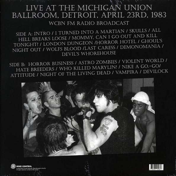 Misfits - Walk Among You: Live At Michigan Union Ballroom, Detroit, 1983 WCBN FMRadio Broadcast