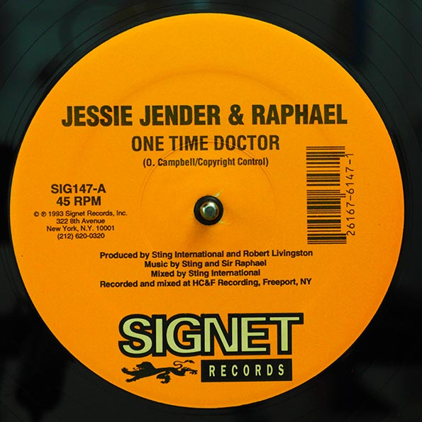 Jessie Jender, Raphael - One Time Doctor  /  Raphael - You Don't Care