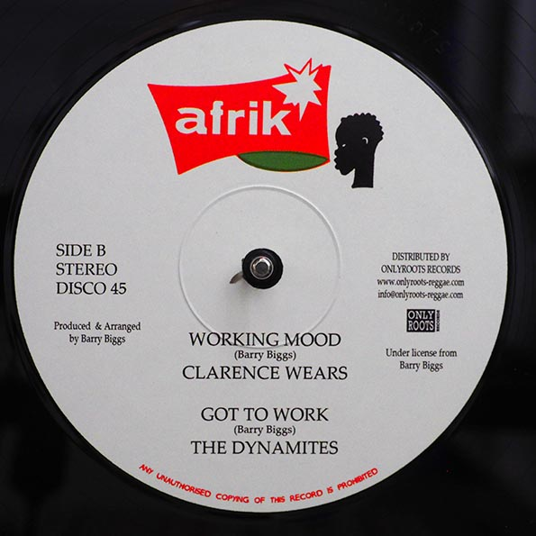 Barry Biggs - Work All Day; The Dynamites - Play All Night  /  Clarence Wears - Working Mood; The Dynamites - Got To Work