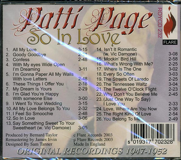 Patti Page - So In Love