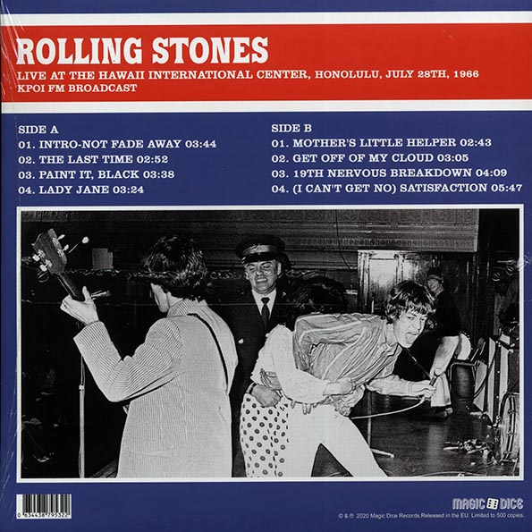 The Rolling Stones - Live At The Hawaii International Center, Honolulu, July 28th, 1966: KPOI FM Broadcast