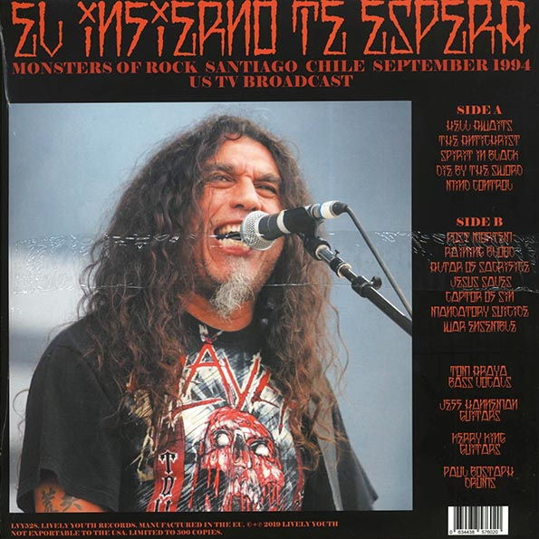 Slayer - El Infierno Te Espara: Monsters Of Rock Santiago Chile September 1994