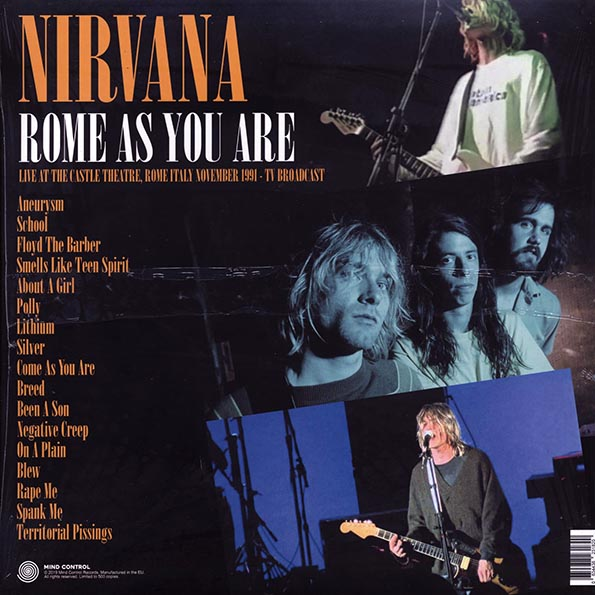 Nirvana - Rome As You Are: Live At The Castle Theatre, Rome, Italy, November 1991 TV Broadcast