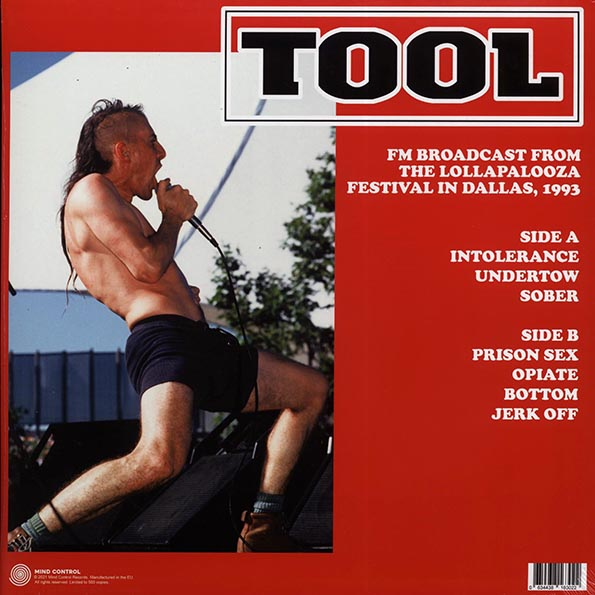 Tool - Live At The Starplex Amphitheatre, Dallas, TX August 1st 1993 FM Broadcast